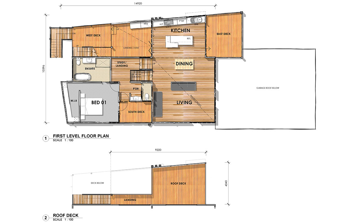 Sloping block designs pivot homes Floor plans for sloping blocks