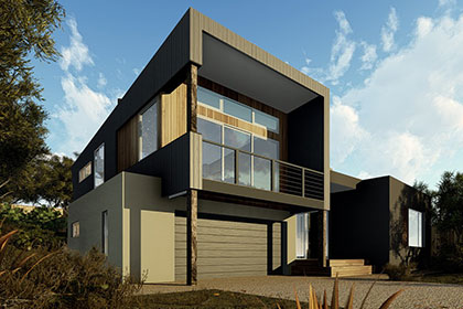 Sloping block designs pivot homes for Home designs for sloping blocks
