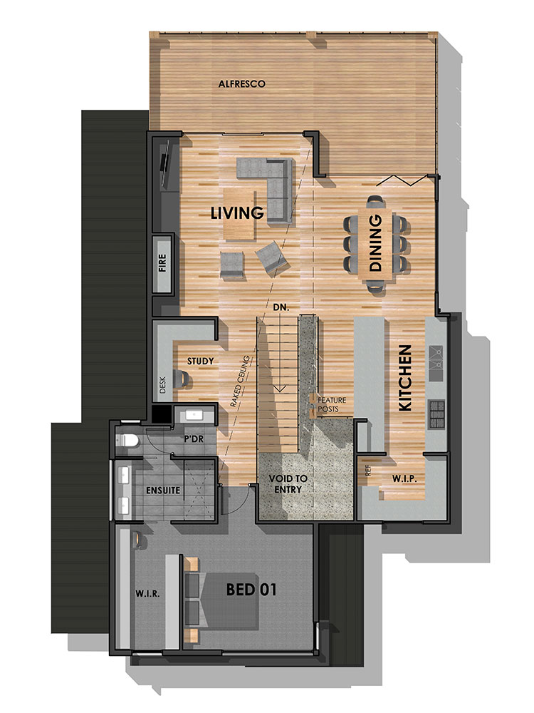 Mount Duneed 32 Display Home First Floor Plan