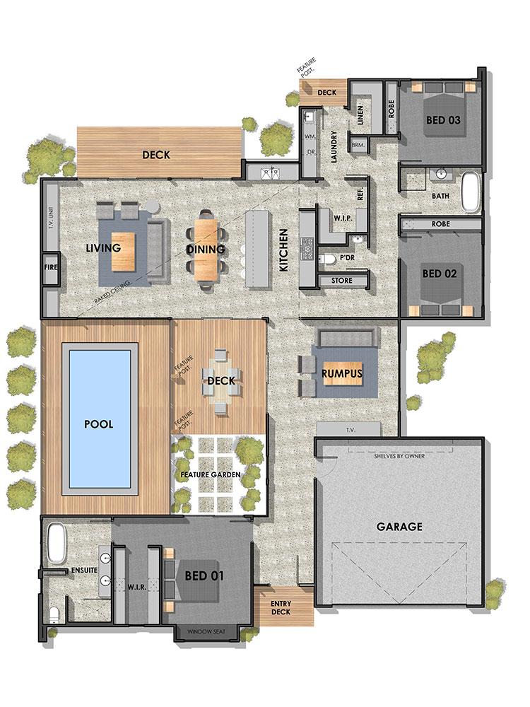 Barwon Heads 28 Ground Floor Plan