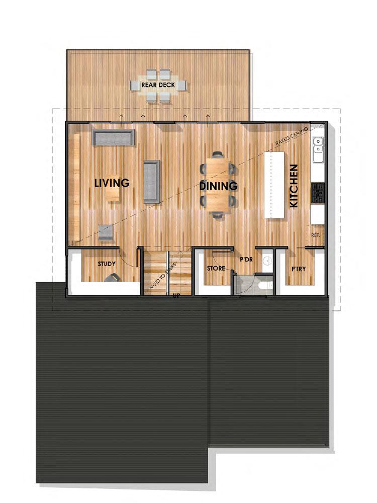 Jan Juc 32 Sloping Block Home First Floor Plan