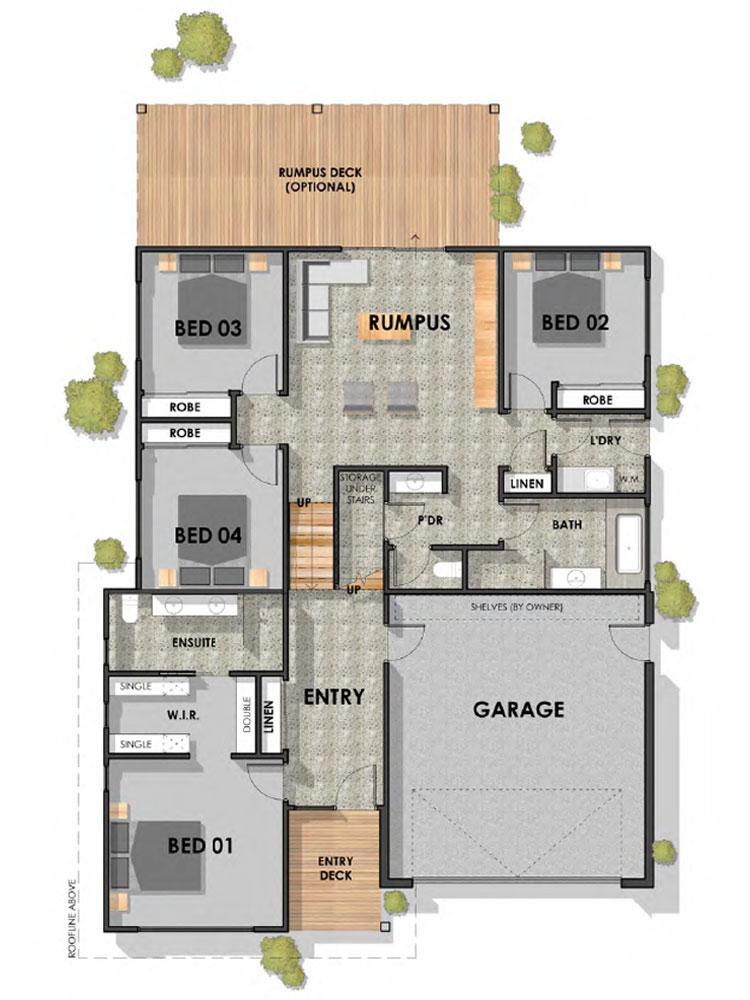 Jan Juc 32 Sloping Block Home Ground Floor Plan
