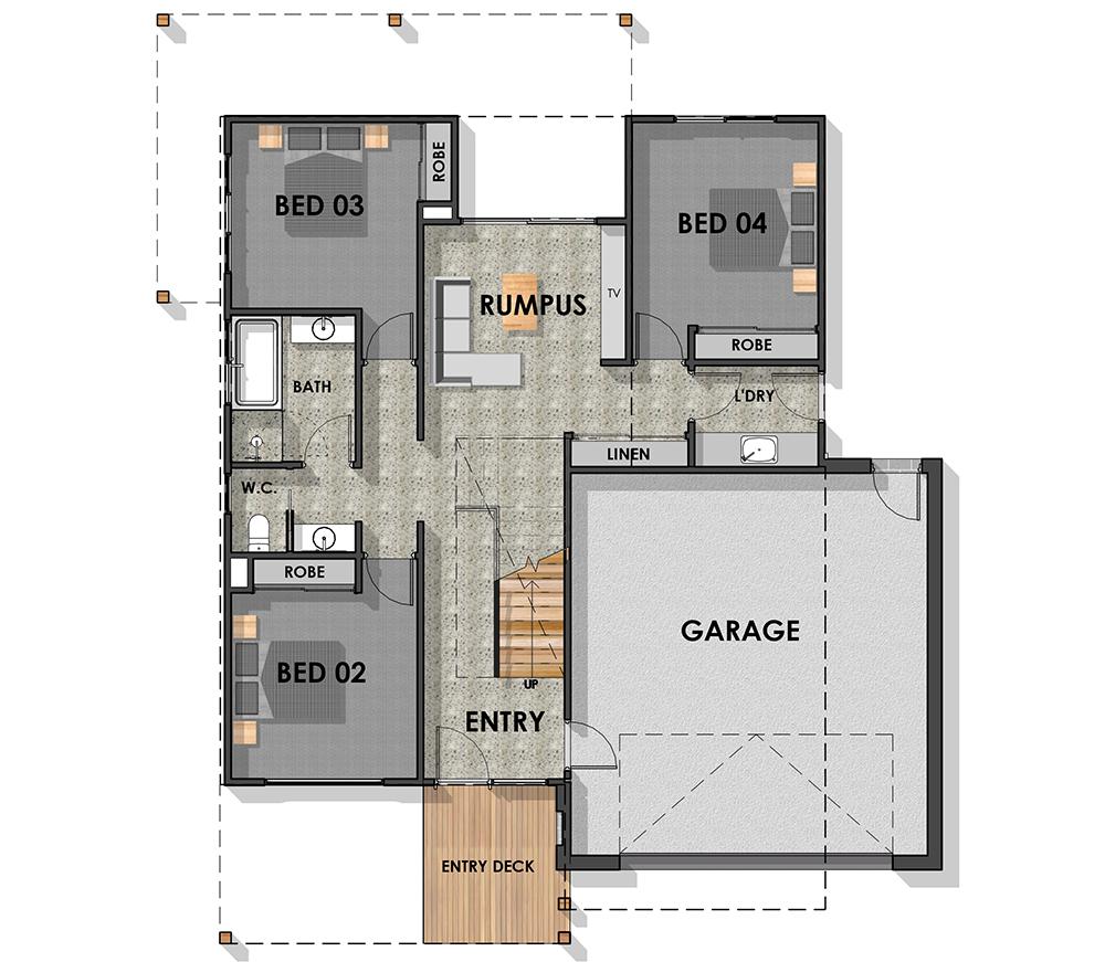 Surfcoast 32 Ground Floor Plan