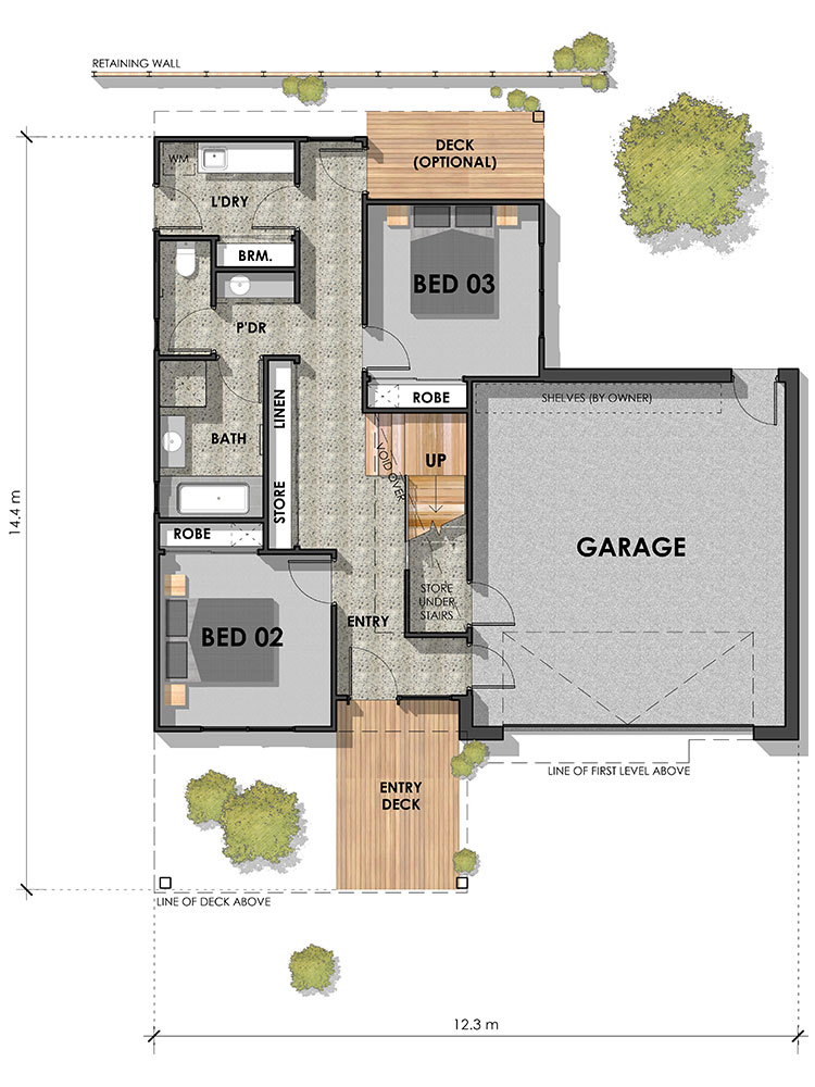 The Bellbrae 26 Home Design Ground Floor Plan