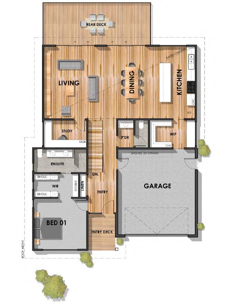 Fyansford 32 Sloping Block Hamptons Home First Floor Plan