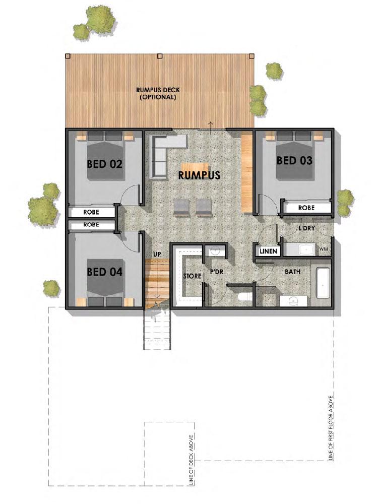 Fyansford 32 Sloping Block Hamptons Home Ground Floor Plan