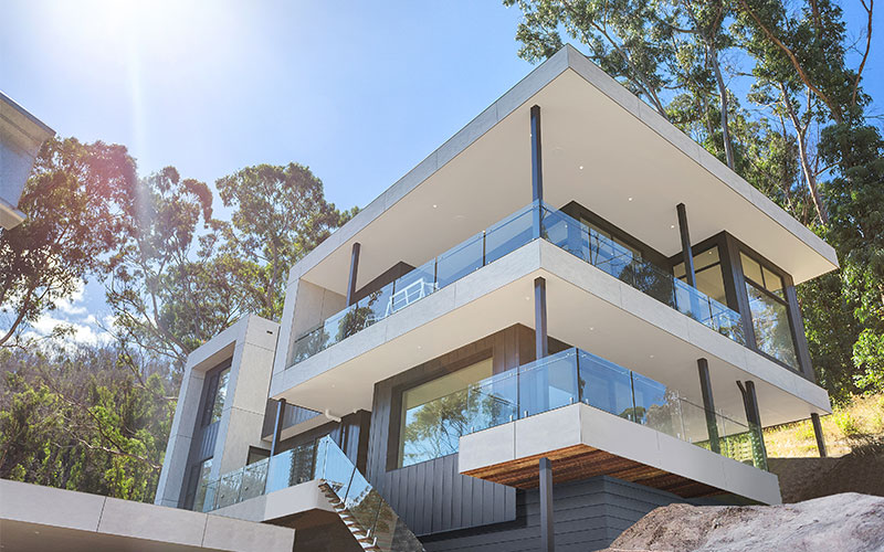 Home On Sloping Block