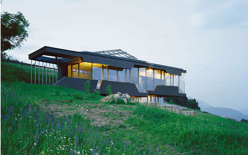 Sloping Block House View