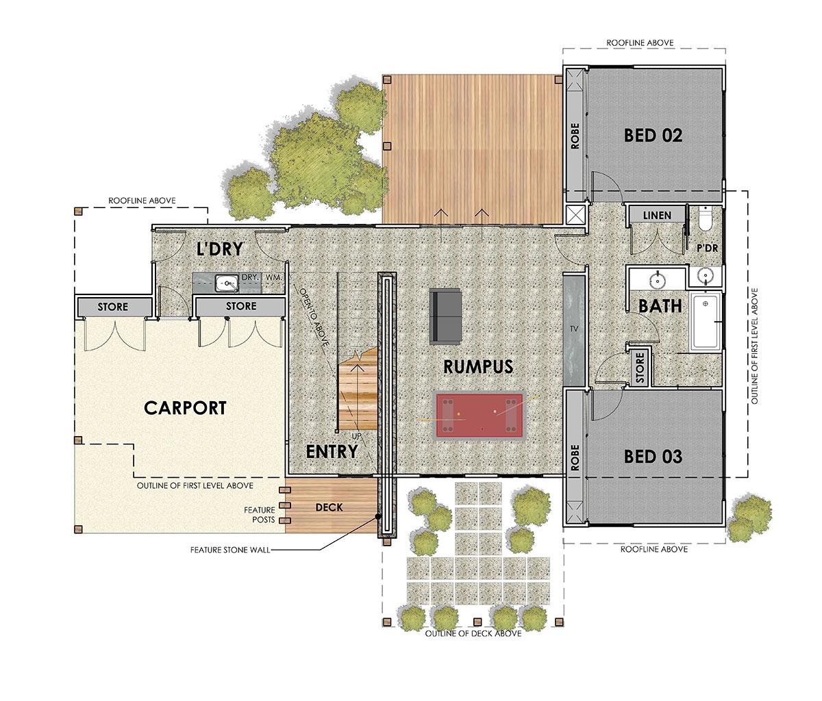 Aireys Inlet 35 Acreage Floorplan 1