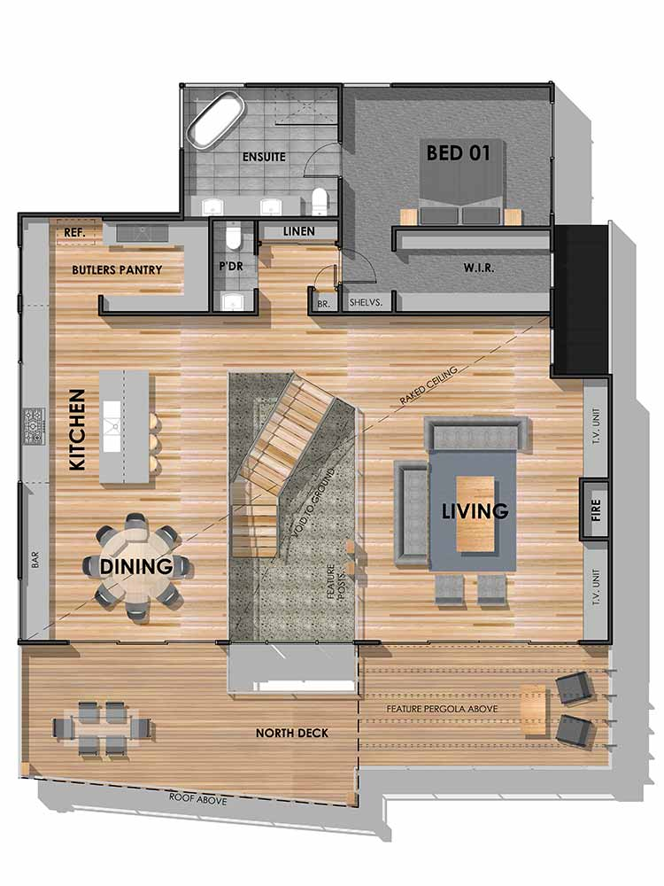 Barwon Heads 45 Custom Home First Floor Plan