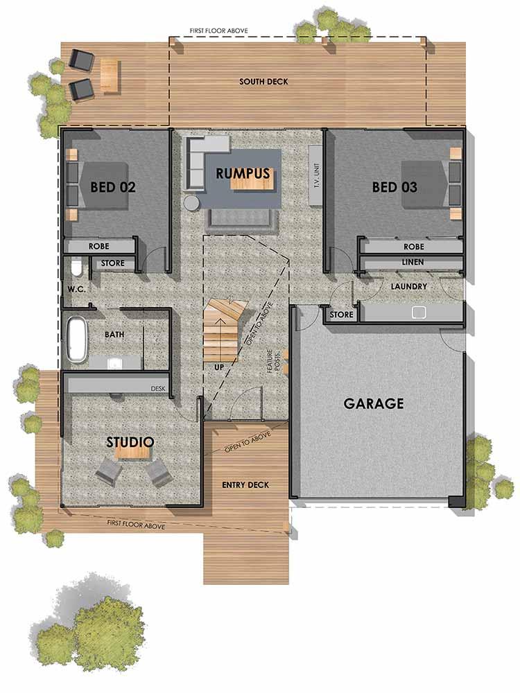 Barwon Heads 45 Custom Home Ground Floor Plan