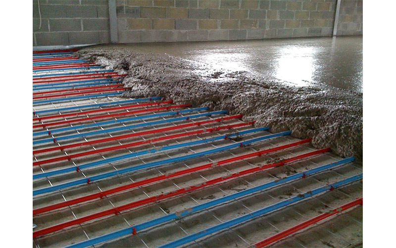 Infill Slab With Underfloor Heating