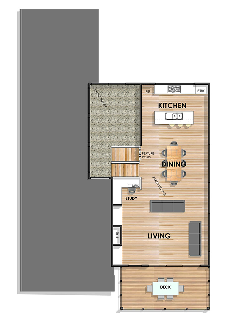 Essington Side Sloping Floor Plan First Mirrored