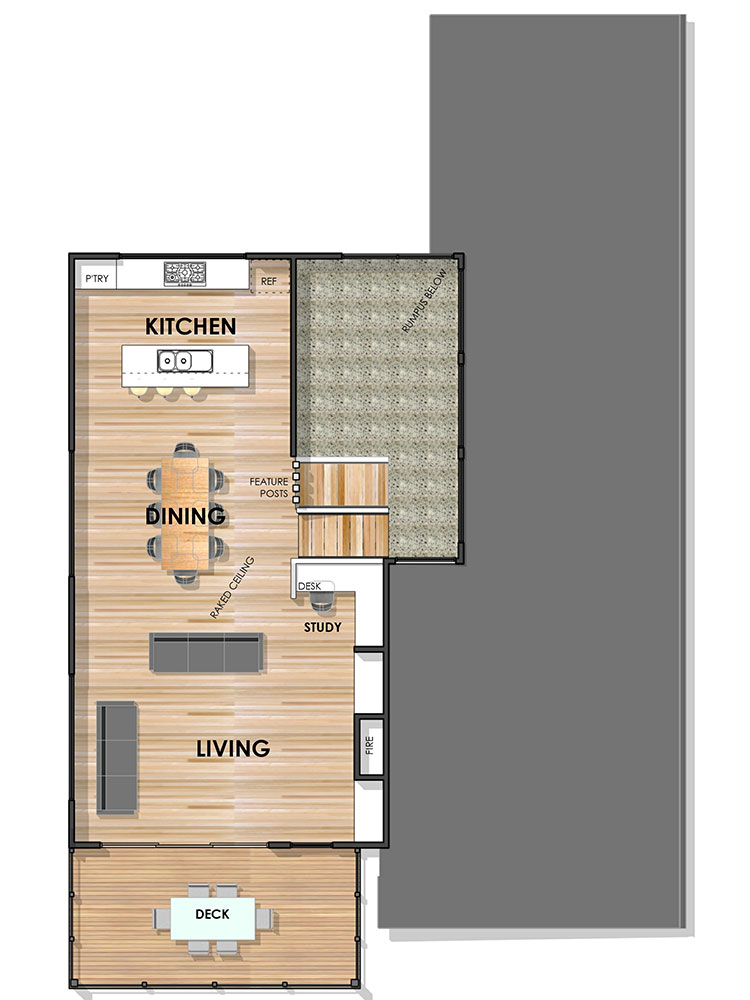 Essington Side Sloping Floor Plan First