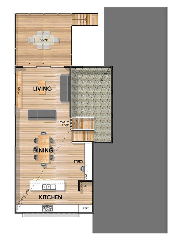 Wandana Side Sloping Floor Plan First Floor