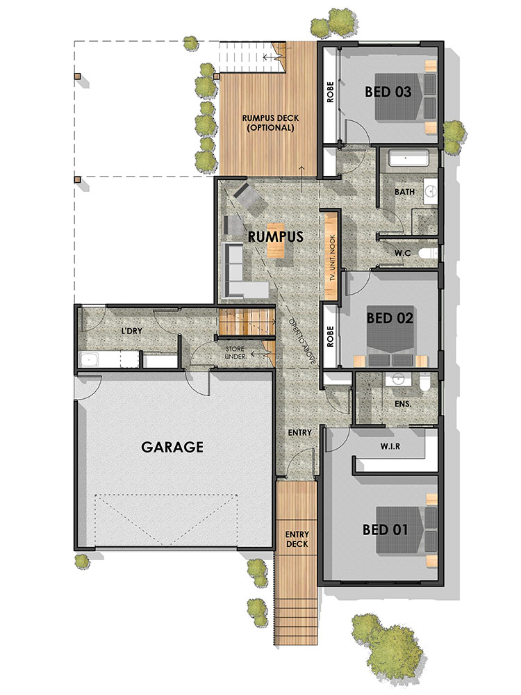 Wandana Side Sloping Floor Plan Ground